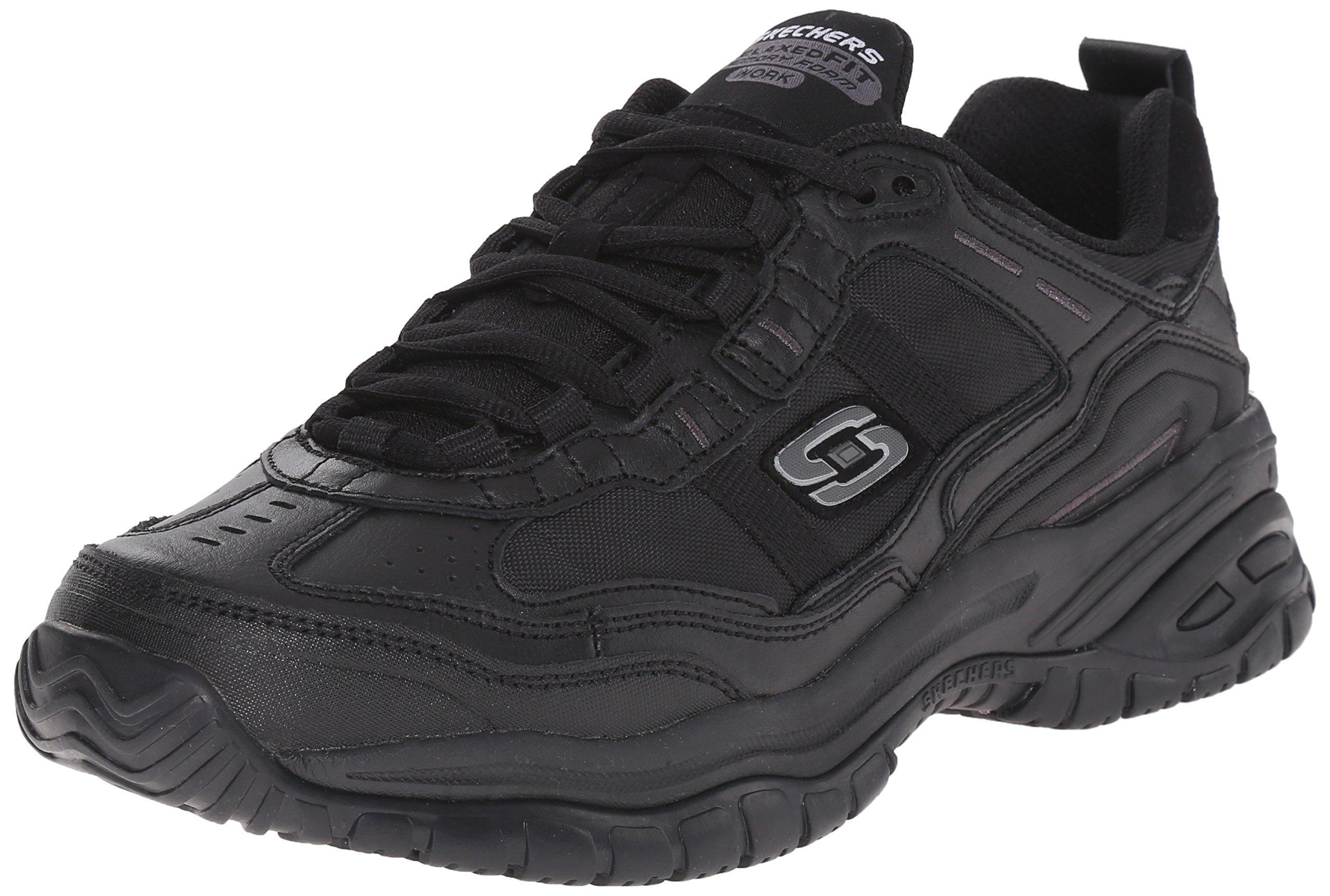 Skechers for Work Men's Soft Stride Mavin Work Shoe, Black, 10.5 W US by Skechers
