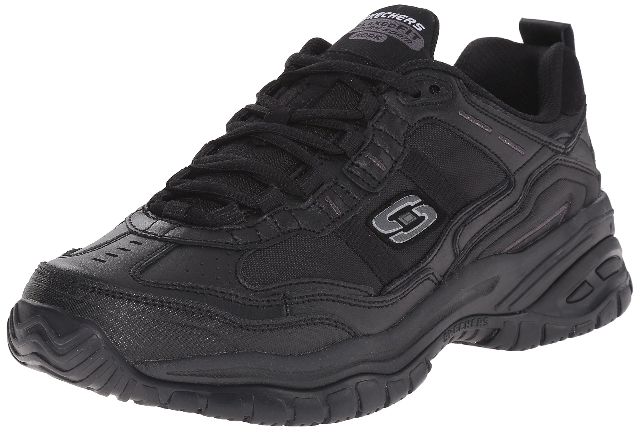 Skechers for Work Men's Soft Stride Mavin Work Shoe, Black, 7.5 W US by Skechers