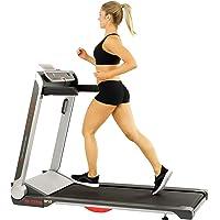Sunny Health & Fitness Motorized Folding Running Treadmill, Black