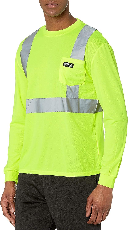 Fila Men's High Visibility Long Sleeve Pocket Top: Clothing