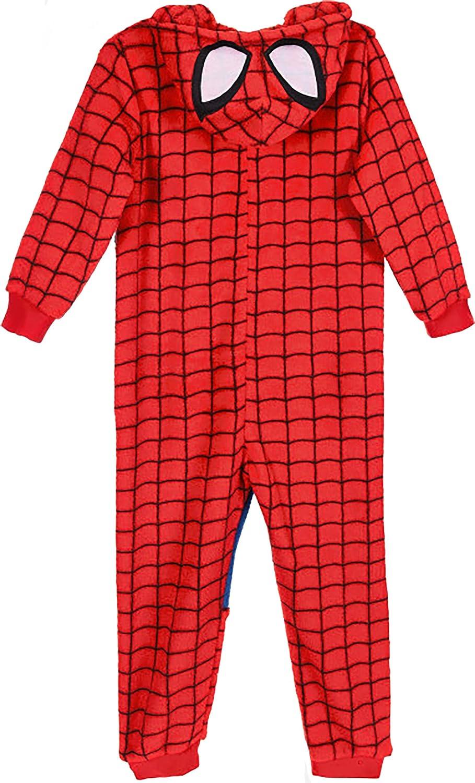3 4 6 8 Anni Caldo Inverno 2021 Pigiama Intero Spiderman Bambino Mis