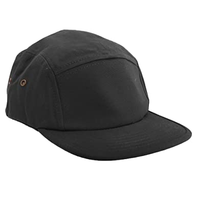 0d495117be60a2 Beechfield Canvas 5 Panel Classic Baseball Cap (One Size) (Black ...