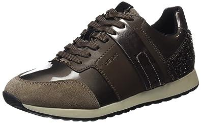 0d18373994da9c Geox D D Deynna D D, Sneakers Basses Femme, Marron (Taupe), 36 EU ...
