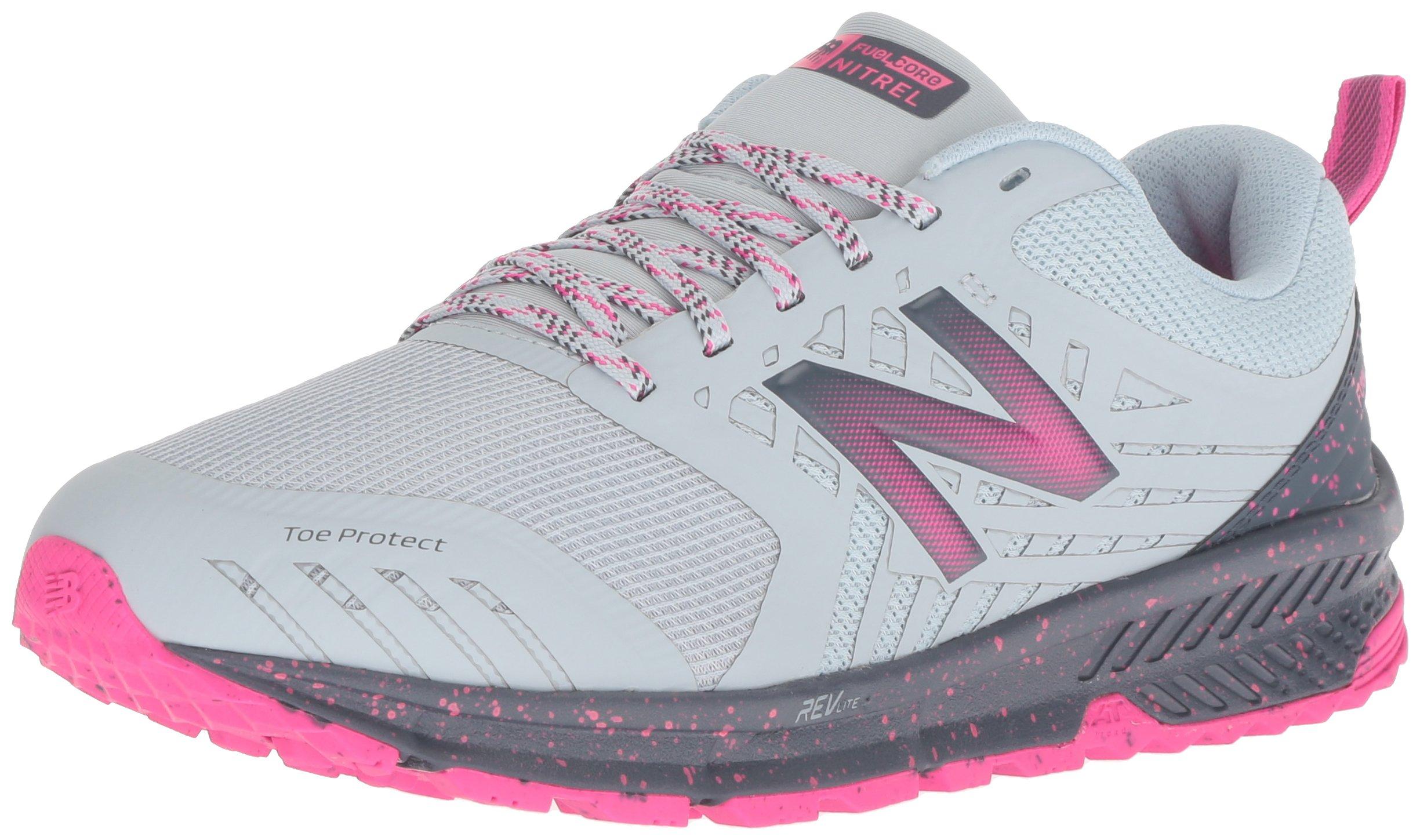 New Balance Women's Nitrel V1 FuelCore Trail Running Shoe, Light Porcelain Blue, 8 B US