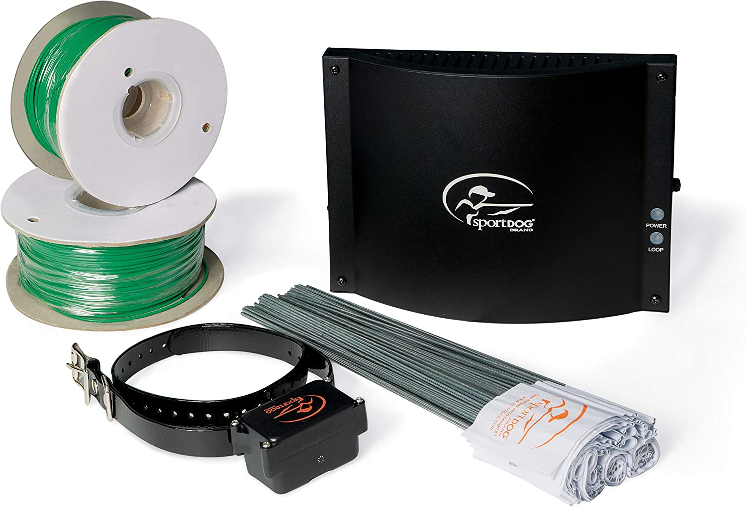 SportDOG Brand In-Ground Fence Systems from the Parent Company of INVISIBLE FENCE Brand – Underground Wire Electric Fence – Tone, Vibration, Shock – 100 Acre Capability – Remote Trainer Option