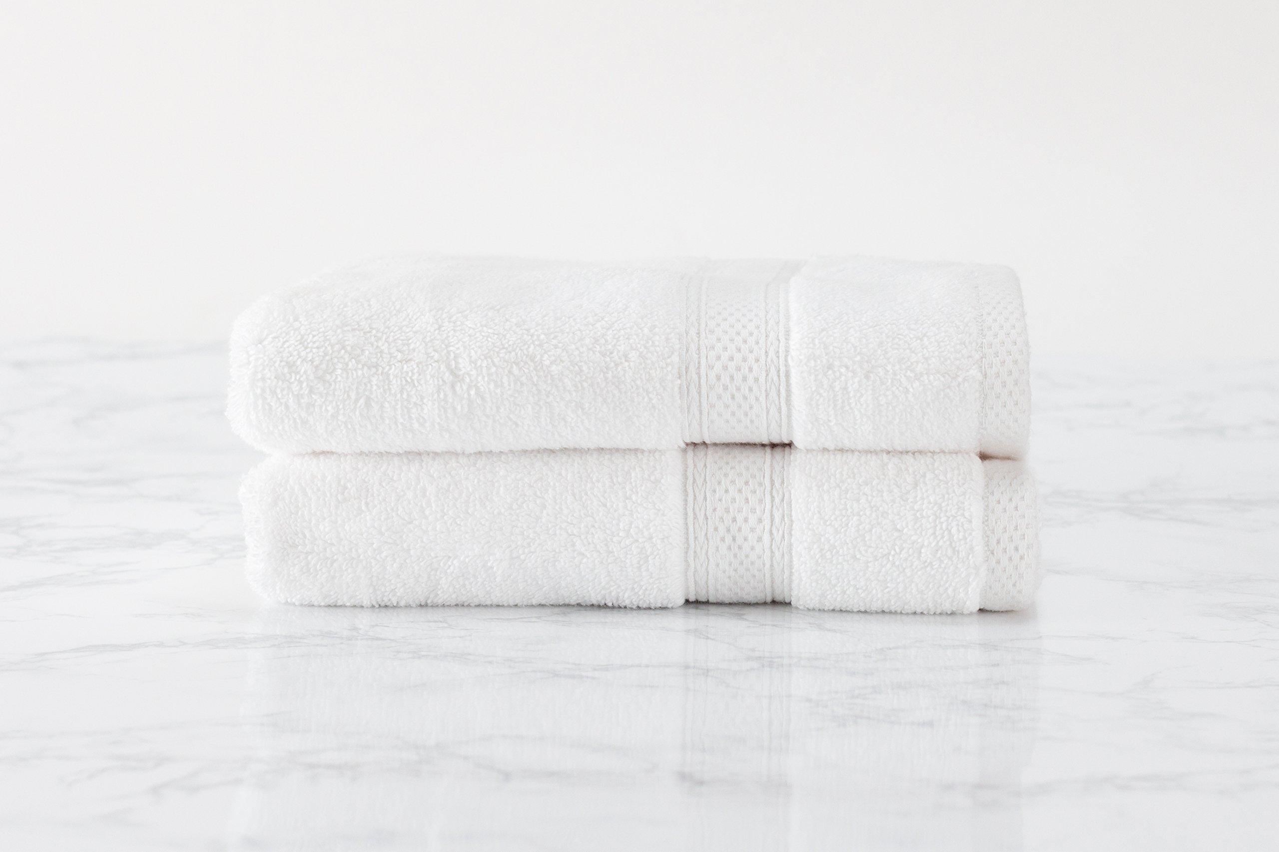 Standard Textile Hotel Luxury Lynova Hand Towels (16'' x 30''), 100% Cotton, Set of 2