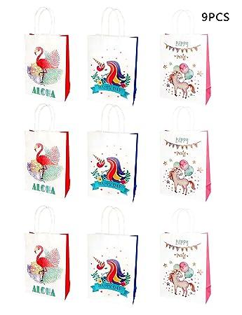 Amazon.com: Bolsas de regalo de unicornio, TLWDZ, 9 unidades ...
