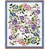 """Pure Country Weavers """"Hummingbirds Blanket"""" Tapestry Throw"""