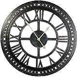 68Cm Round Metal Skeleton Design Wall Clock ~ Wonderful Antique Looking Wall Clock