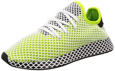 7f1e9a8b4da09 adidas Deerupt Runner Semi Solar Slime Black Black 43  Amazon.co.uk ...