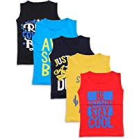 T2F Boys' Cotton Printed T-Shirt (Pack of 5, Multicolor)