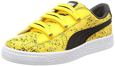 Puma Unisex s Minions Basket V Ps Yellow Leather Sneakers-10 Kids UK India ( 341151323