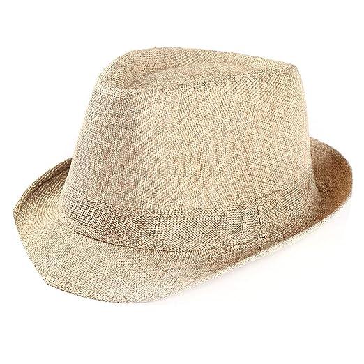 Casual Unisex Straw Solid Color Panama Hat Handmade Cowboy Cap Travel Sunhat