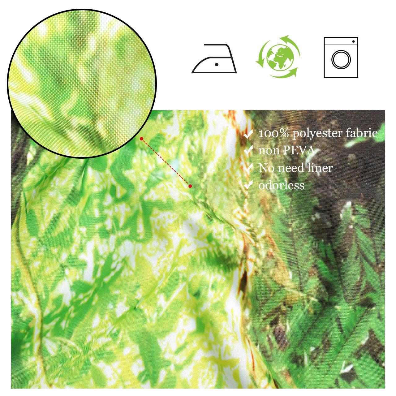 150x180cm LB Selva Impermeable Tejido de poli/éster Ba/ño Cortina de la Ducha 3D Decoraciones de ba/ño de impresi/ón digitaLlL/ámina 12Manos