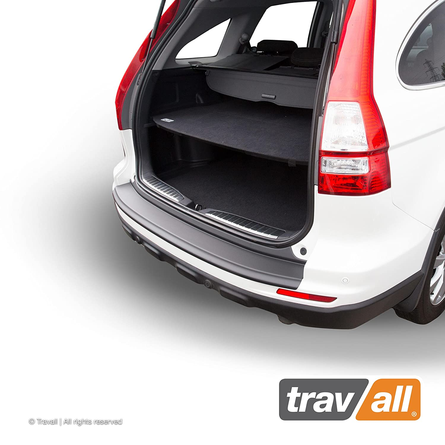 Vehicle-Specific Black Plastic Moulded Rear Bumper Protector Smooth Travall Protector TBP1018P