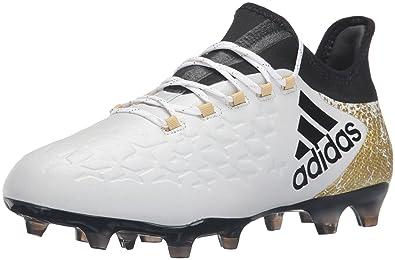 online retailer ff90c f9816 adidas Men s X 16.2 FG Soccer Shoe, White Black Metallic Gold, 9.5