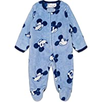 Disney Mickey Mouse Baby Boys' Fleece Sleep n Play Coveralls