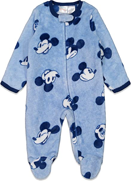Disney Mickey Mouse Baby Boys/' Footed Coverall
