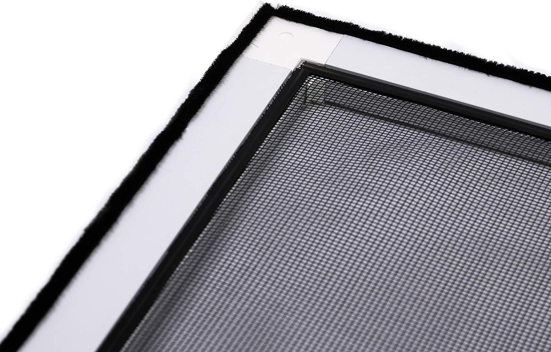 Fliegengitter Insektenschutz Fenster Alu Rahmen Bausatz 120 x 140 cm anthrazit auf Ma/ß