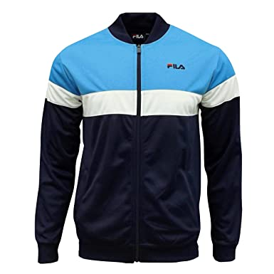 5ea306acd6 Fila Men's Lecce Retro Track Top Tracksuit Jacket French Blue Large ...