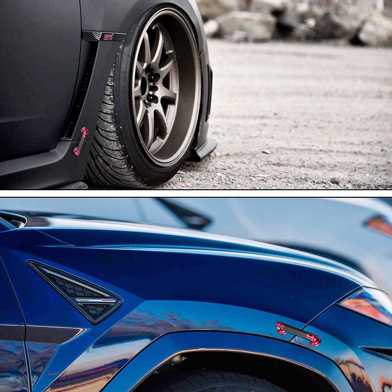 TOMALL 2 Pcs 45mm Car Adjustable Front//Rear Bumper Lip Splitter Support Strut Rod Carbon Fiber Red Universal Auto Bumper Fasteners Lever Carbon Fiber Black