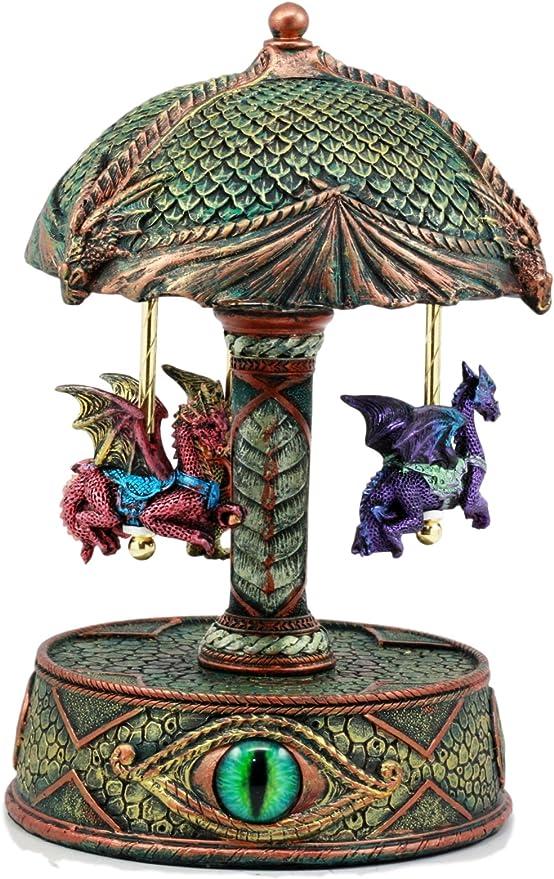 ebros ojo de Pandora tres Colorful Flying Dragons – Caja de música ...
