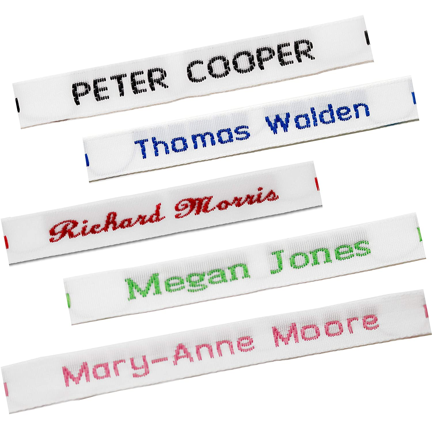 60 Printed Iron-On Name Labels Personalised School Quality Tape Tags for Clothes