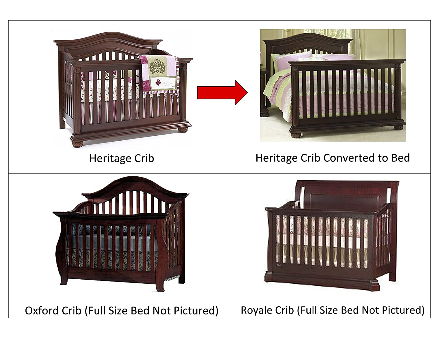 Amazoncom Full Size Conversion Kit Bed Rails For Baby Cache Cribs