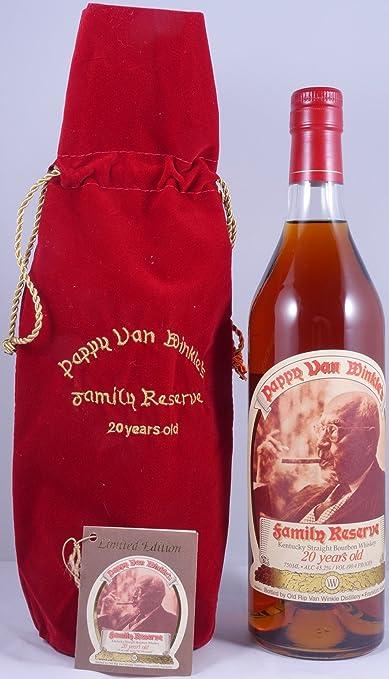 pappy van winkles family reserve 20 years handmade limited straight bourbon whiskey amazon de bier wein spirituosen