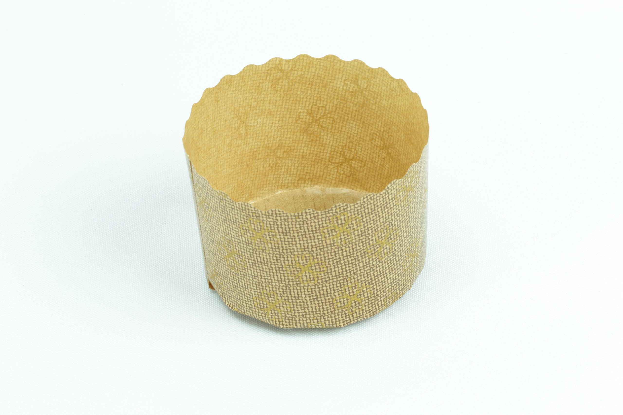 Panettone Paper Molds by Ecobake   Paper Souffle Cups and Paper Muffin Cups   Versatile Design   Non Stick, Microwave Safe, Freezer Safe   Size W2.75'' x H1.96'' 100gr   (100 Pieces)