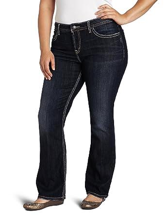 e7924645 Amazon.com: Silver Jeans Women's Plus-Size Natsuki Jean: Clothing
