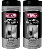 Weiman Stainless Steel Wipes, 30 Count (Pack of 2)