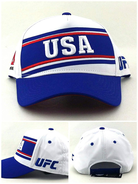 Reebok UFC MMA Rojo Blanco y Azul EE. UU. Estados Unidos Gorra ...