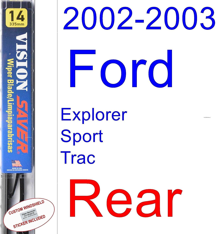 Amazon.com: 2002-2003 Ford Explorer Sport Trac Replacement Wiper Blade Set/Kit (Set of 2 Blades) (Saver Automotive Products-Vision Saver): Automotive