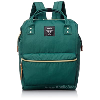 Japan Anello Backpack Unisex LARGE GREEN Rucksack Waterproof Canvas Bag Campus