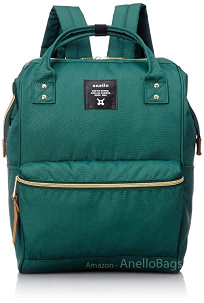 b597473f22f0 Image Unavailable. Image not available for. Color  Japan Anello Backpack  Unisex LARGE GREEN Rucksack ...