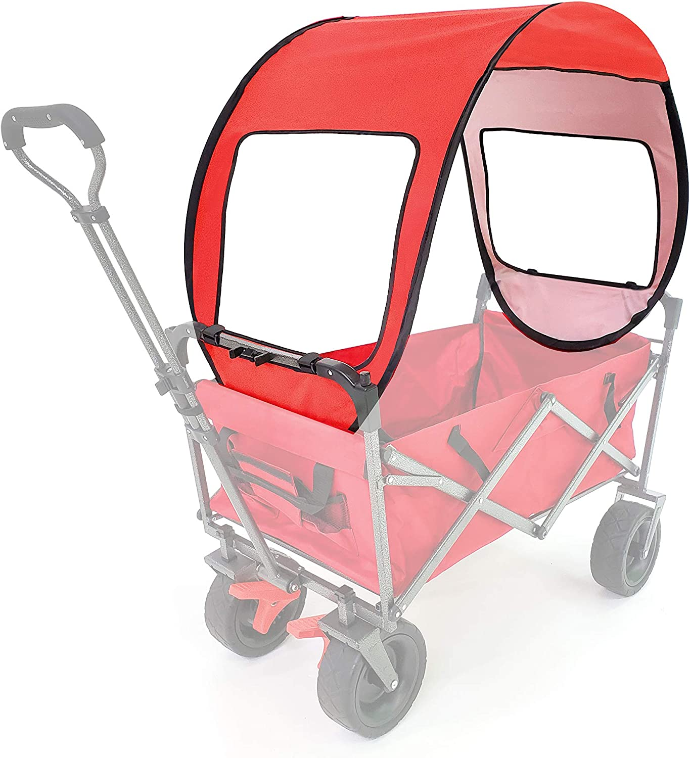 Brookfield Products Wagon Canopy Cover for Collapsible Wagons, Folding Wagon Carts Cover, Utility Wagon Canopy, Kids Wagon Canopy, Outdoor Garden Beach Wagon Cover