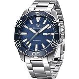 BERSIGAR BG-1617 Relojes automáticos de los Mejores Hombres - Reloj de Negocios Informal con dial Negro de Acero…