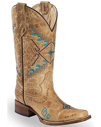 11c30a0696f Amazon.com | Circle G Women's Aztec Embroidered Western Boot Square ...