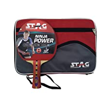 Stag Ninja Power Table Tennis Racquet with Padded Case