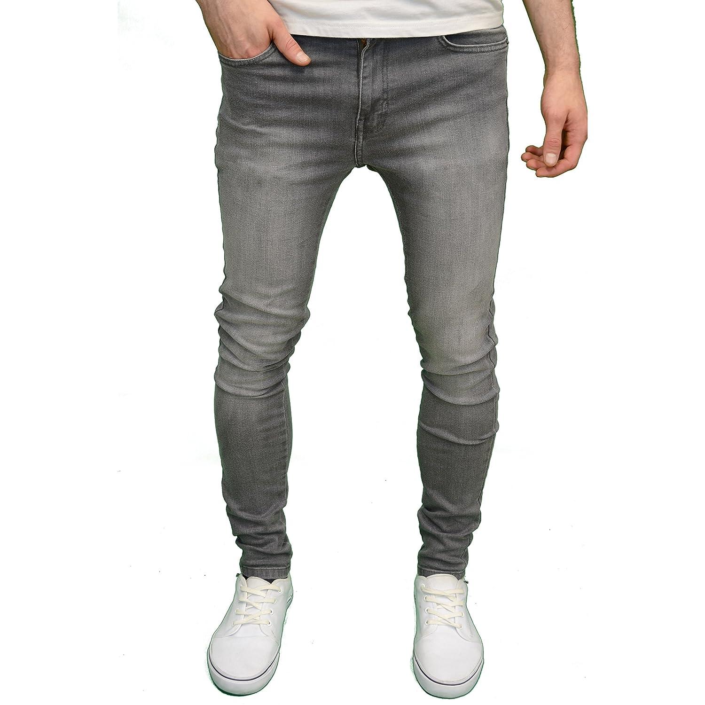 526Jeanswear 'SENJO' Mens Designer Branded Stretch Super Skinny Fit Jeans