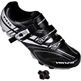 Venzo Mountain Men's Bike Bicycle Cycling Shoes - Compatible with Shimano SPD Cleats - Good for Spin Cycle, Off Road and…