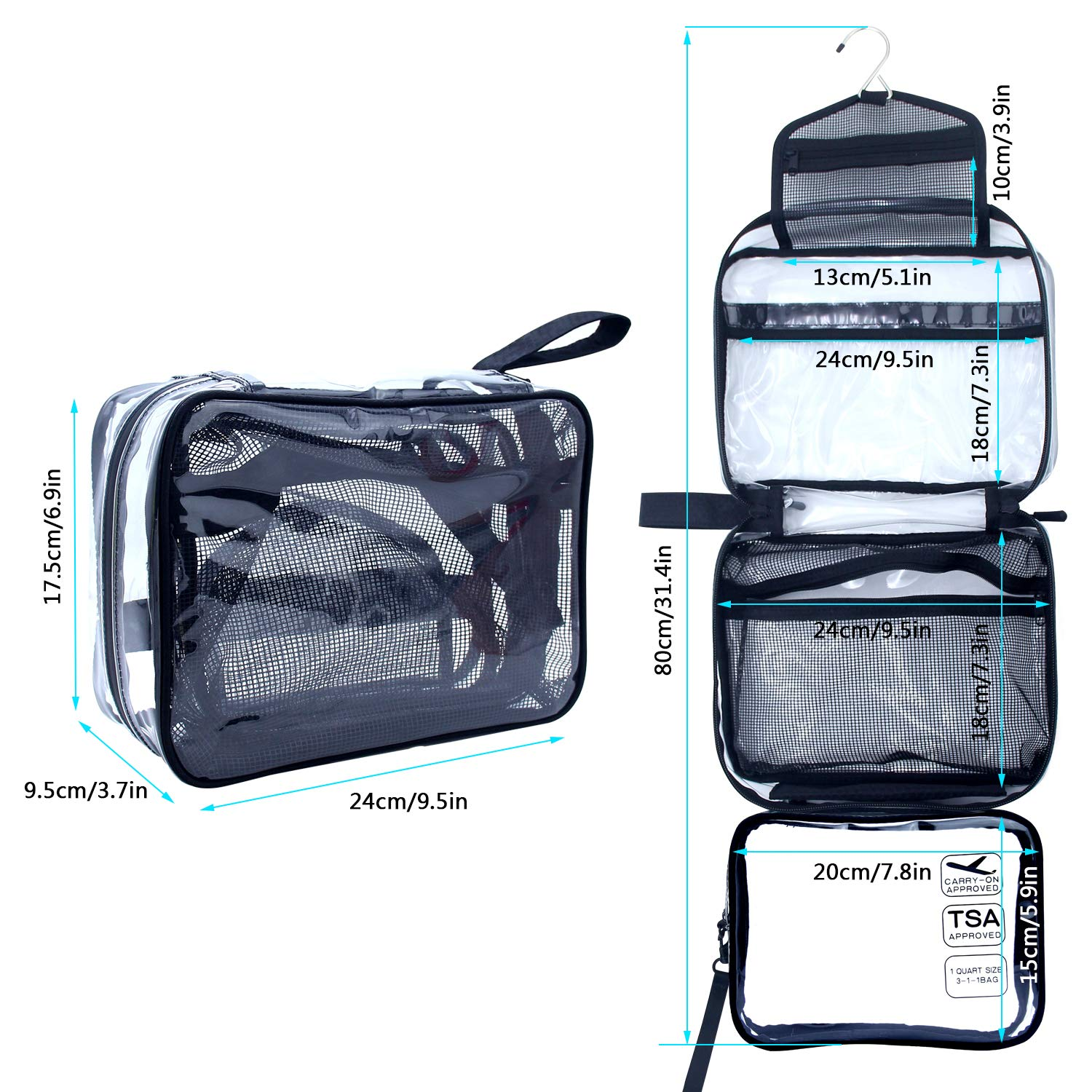 Hanging Clear Toiletry Bag