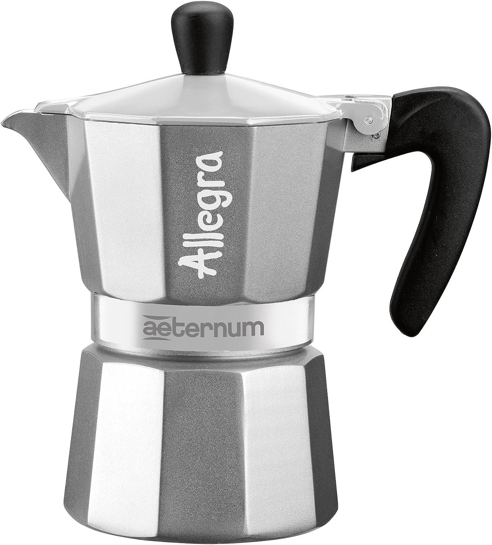 Bialetti Allegra Cafetera Espresso con Una Taza, Aluminio, Negro/Plata, 13 x 7 x 12 cm: Amazon.es: Hogar