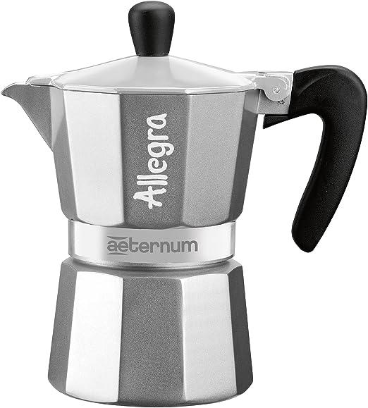 Bialetti Allegra Cafetera Espresso con Una Taza, Aluminio, Negro ...