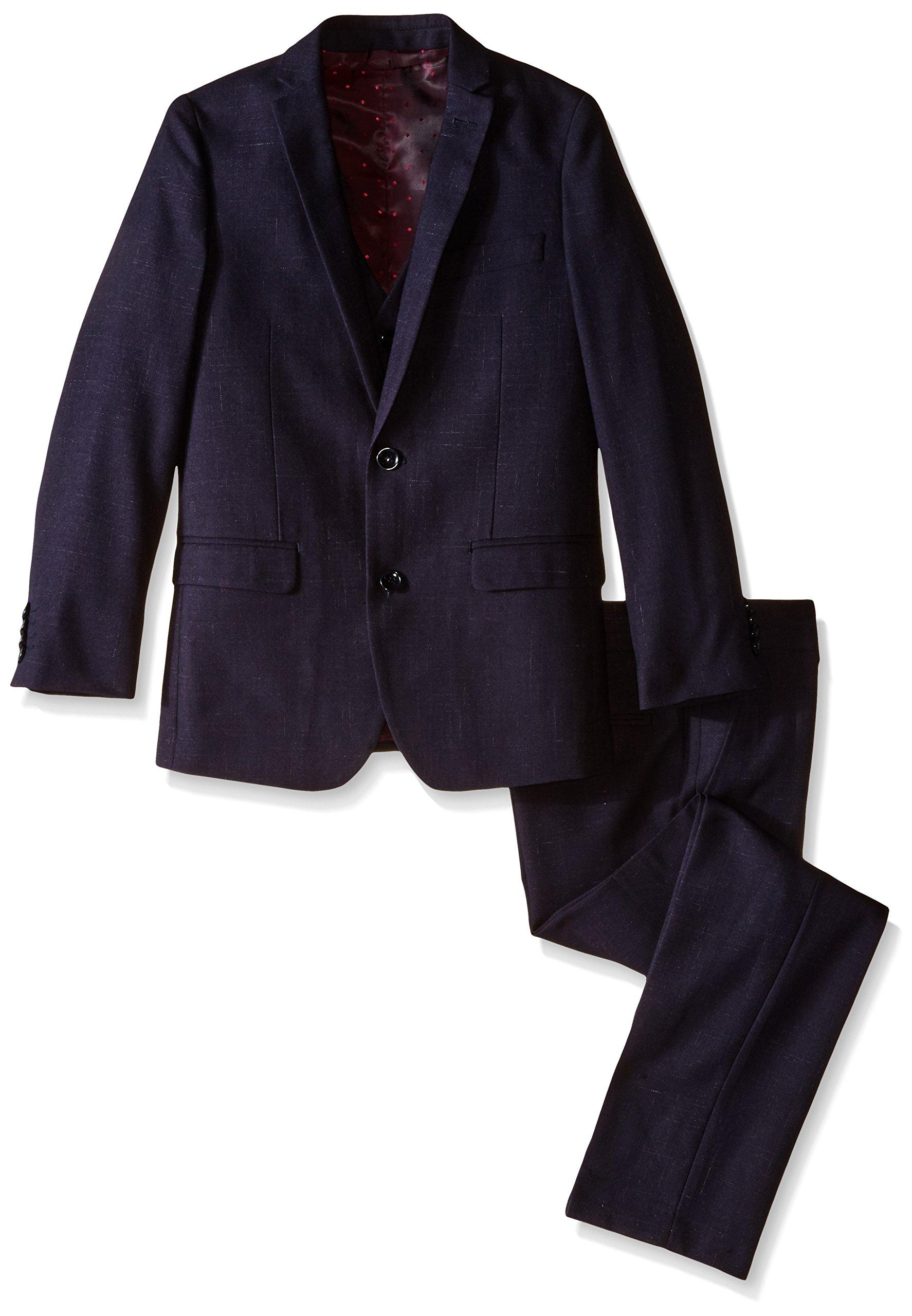 Isaac Mizrahi Big Boys' 3 Piece. Raindrop Suit, Navy, 14