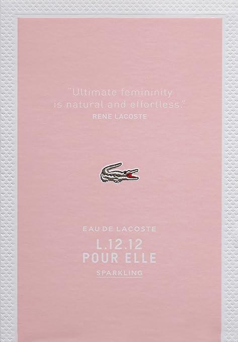 Amazon.com: Lacoste L.12.12 Pour Elle Eau de Toilette Spray, Sparkling, 3 fl. oz.: LACOSTE EAU DE L.12.12 POUR ELLE SPARKLING: Luxury Beauty