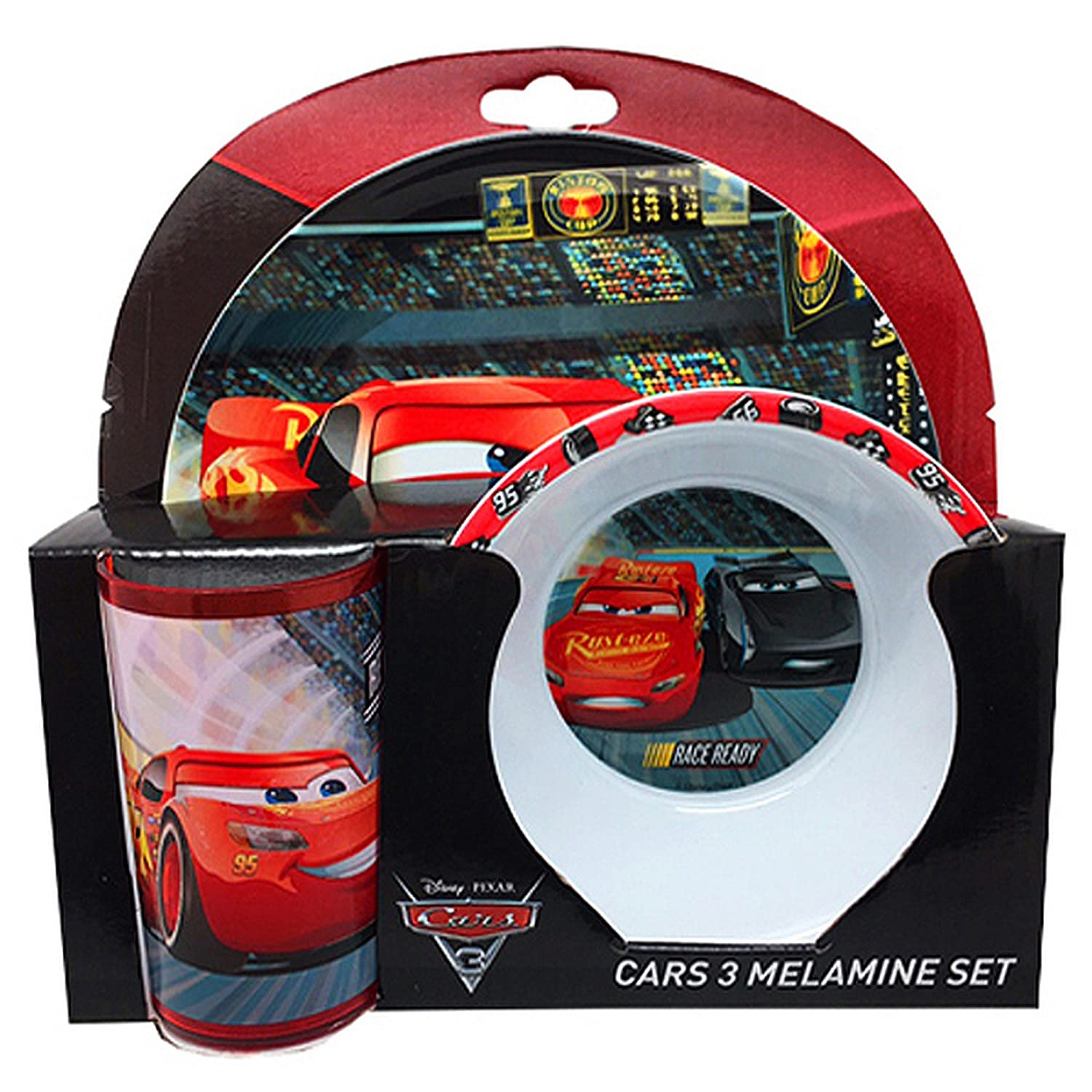 Disney Cars 3 Official Childrens/Kids 3 Piece Dinner Set UTSG10987_1