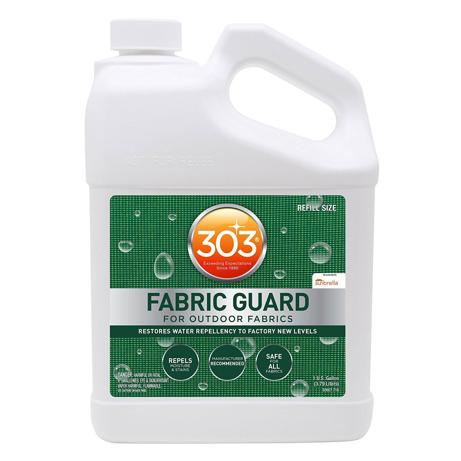 303 (30607-4PK) Fabric Guard, Upholstery Protector, Water and Stain Repellent, 128 fl. oz., Pack of 4 by 303 Products (Image #2)