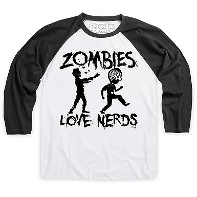 7d8cf84ea Shotdeadinthehead Goodie Two Sleeves Zombies Love Nerds Baseball T Shirt,  Male: Amazon.co.uk: Clothing